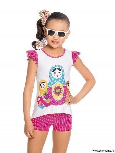 41617e1a3868b Туника+шорты для девочек Charmante GTH 041708 купить недорого в ...