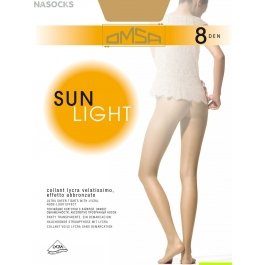 Колготки женские ультратонкие OMSA Sun Light 8 den