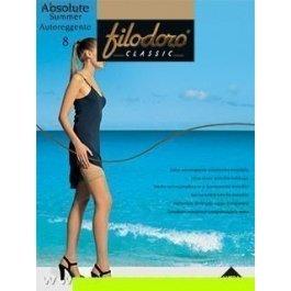 Чулки женские ультра-тонкие Filodoro Absolute Summer 8 den Auto