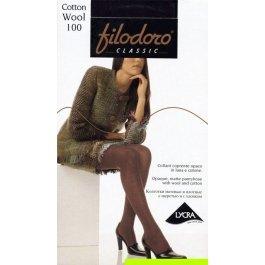 Колготки женские с хлопком и шерстью Filodoro Cotton Wool 100 den