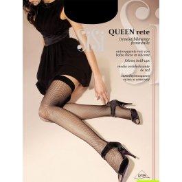 Чулки женские в мелкую сеточку Sisi Queen Rete