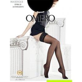 Чулки женские супер-тонкие Omero Efira 15 den Autoreggente