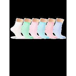 Носки женские шелковые, с объемным рисунком Lorenz Д53