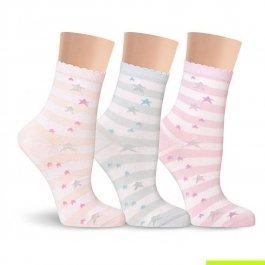 Носки женские разноцветные, с люрексом Lorenz Д31