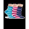 Носки женские разноцветные, в полоску Lorenz Д27 - 2
