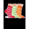 Носки женские разноцветные, в полоску Lorenz Д27 - 3