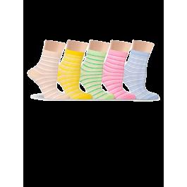 Купить Носки женские разноцветные, в полоску Lorenz Д40
