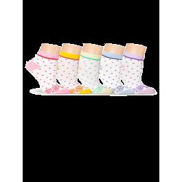 Носки женские укороченные Lorenz Д48 в точечку