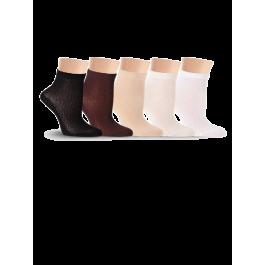 Носки детские однотонные, в сеточку Lorenz П14