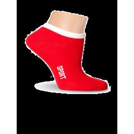 Носки женские спортивные, короткие, ярко-красные Lorenz С11