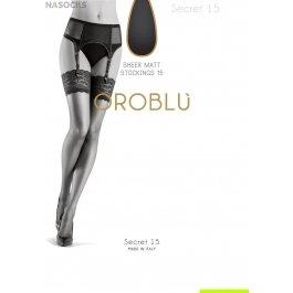 Чулки женские супер-тонкие, под пояс Oroblu Bas Secret 15 den