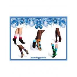 Подарочный набор из 6 пар ярких и стильных HappySocks