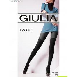 Колготки с имитацией Giulia TWICE женские хлопок