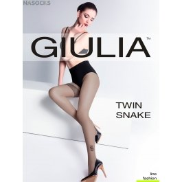 Колготки Giulia TWIN SNAKE женские с рисунком