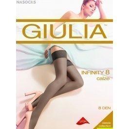 Чулки женские супертонкие с охлаждающим эффектом Giulia Infinity 8 den
