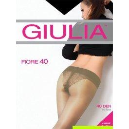 Колготки женские с заниженной талией и ажурными трусиками Giulia Fiore Bikini Vita Bassa 40 den