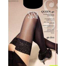 Чулки женские прозрачные, с лайкрой SiSi Quenn 40 den