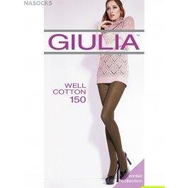 Колготки женские теплые, из микрофибры Giulia Well Cotton 150 den
