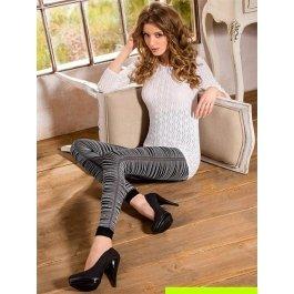 Леггинсы женские мягкие, с контрастными нитками Mona Arina 01 150 den