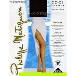 Чулки женские супер тонкие Philippe Matignon Cool Summer 8 den bas-jarretiere