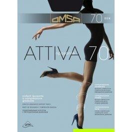 Колготки женские непрозрачные, с распределенным давлением Omsa Attiva 70 den