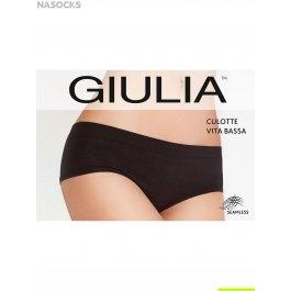 Трусы-полушорты женские, бесшовные с заниженным поясом Giulia CULOTTE VITA BASSA