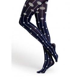 Купить Колготки женские с контрастным рисунком Happy Socks DS59-608 50 den