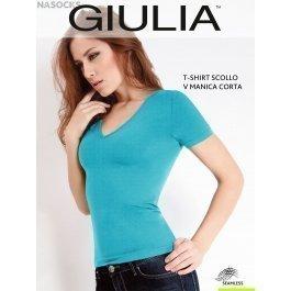 Футболка GIULIA T-SHIRT SCOLLO V MANICA CORTA женская бесшовная