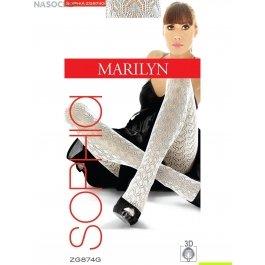 Колготки Marilyn Sophia 874 женские, 3D хлопок, ажурные, 120 den