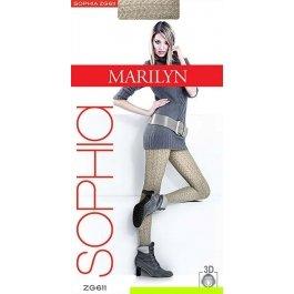 Колготки Marilyn Sophia 611 женские, 3D хлопок, с рисунком, 120 den