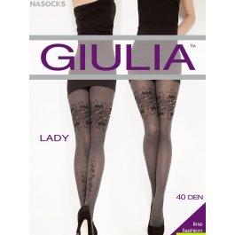 Колготки Giulia LADY 7 женские, микрофибра, с рисунком , 40 den