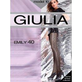"Колготы Giulia EMILY 10 женские, 40 den, с узором ""точки и волна"""