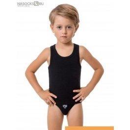 Купить Майка-борцовка черного цвета BOYS COLLEZIONE CLASSICI BBM99026B для мальчиков