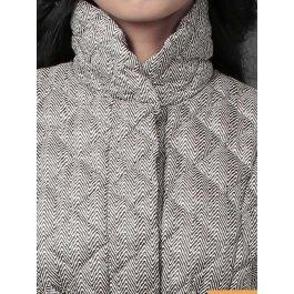 Пуховик женский WF14022 со съемным мехом рекса