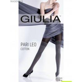 Колготки теплые,  с имитацией чулок Giulia PARI LEO COTTON