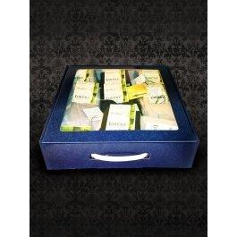 Подарочная коробка синяя, большая
