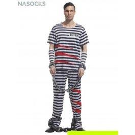 Купить костюм карнавальный для мужчин (Заключенный) Charmante MCH-1033