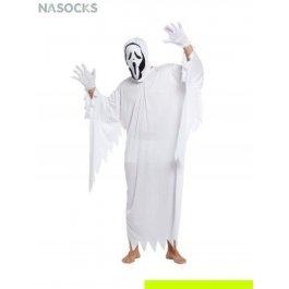 Костюм карнавальный мужской (Крик в белом) Charmante MCH-1082