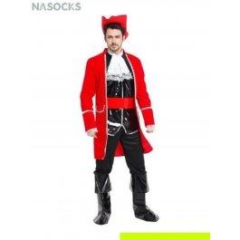 Костюм карнавальный мужской (Пират в черно-красном) Charmante MCH-1090