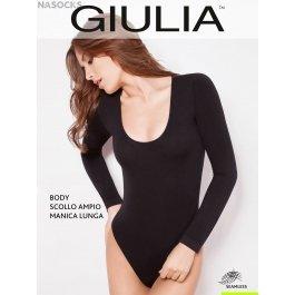 Боди Giulia BODY SCOLLO AMPIO MANICA LUNGA женское, бесшовное