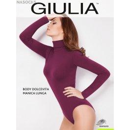 Водолазка-боди Giulia BODY DOLCEVITA MANICA LUNGA женская, бесшовная, микрофибра
