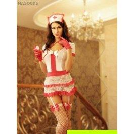 Купить Комплект женский (платье, головной убор, стетоскоп, перчатки,  чулки, стринги ) Charmante e8502