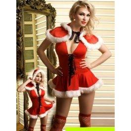 Купить Комплект женский (платье, накидка, стринги,чулки) Charmante e8928