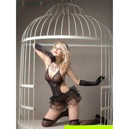 Купить Комплект женский (комбидресс, перчатки, стринги, чулки) Charmante e8981