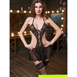 Купить Комплект женский (платье, чулки, подвязки, стринги) Charmante e9655