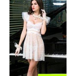 Комплект женский (платье, перчатки, чулки, стринги) Charmante e9661