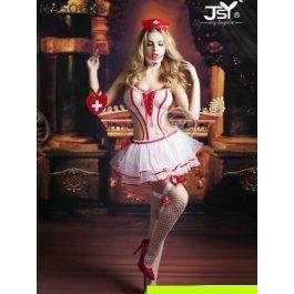 Купить Комплект женский (комбидресс, юбка, головной убор, чулки, аксессуар на руку, маска) Charmante e9706