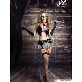 Купить Комплект женский (бюстгальтер, юбка, стринги, чулки, очки, указка, галстук, перчатки) Charmante e9721