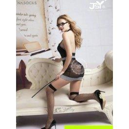 Купить Комплект женский (комбидресс, стринги, указка, очки, чулки, ремень) Charmante e9722