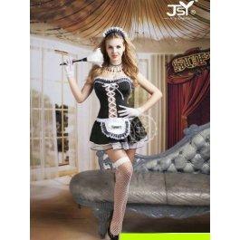 Купить Комплект женский (платье, стринги, головной убор, перчатки, чулки, метёлка) Charmante e9729